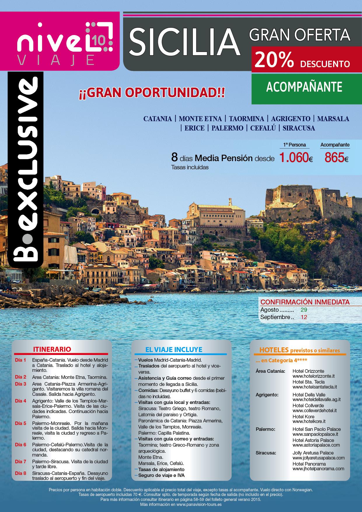 Oferta Sicilia con grandes descuentos
