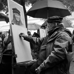 Pintor en el Barrio de Montemartre