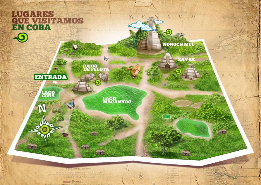 Mapa de Cobá